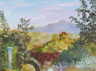 Mt. Monadnock Painting - Golden Hour by Alicia Drakiotes