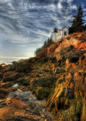 Maine Landscape Photograph - Golden Light At Bass Harbor by Lori Deiter