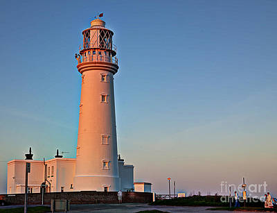Colourfull Photograph - Golden Lighthouse by David  Hollingworth