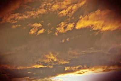 Golden Lit Sky After The Rain Art Print by Lee Yang