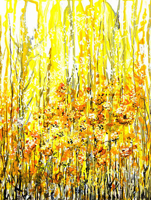 Golden Meadow Art Print by Elaine Hodges
