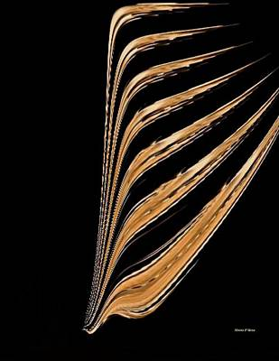 Prayerfulness Digital Art - Golden Palm by Maria Urso
