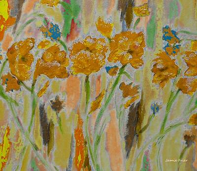 Painting - Golden Poppies by Jamie Frier