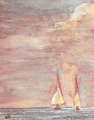 Painting - Golden Sails by Richard James Digance