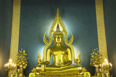 Golden Sitting Buddha Art Print by Gloria and Richard Maschmeyer