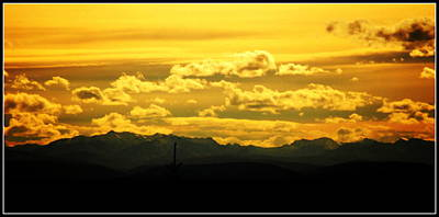 Photograph - Golden Skies by Kathy Sampson