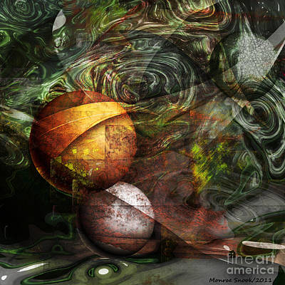 Digital Art - Golden Sphere by Monroe Snook