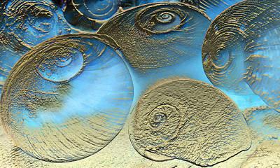 Golden Spirals Art Print by Barbara  White