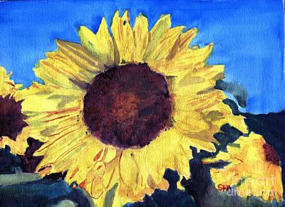 Golden Sunflower Art Print by Sandy McIntire