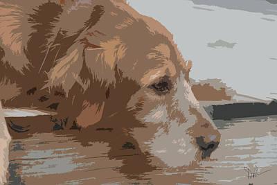Golden Retriever Digital Art - Golden Thoughts by Pam Gleichman