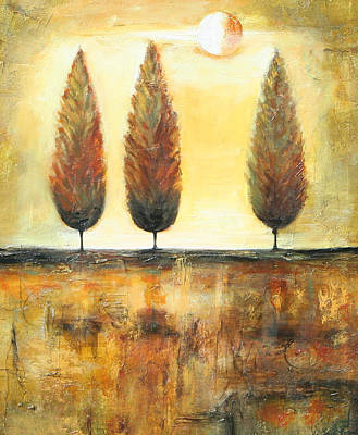 Painting - Golden Trees by Lauren  Marems