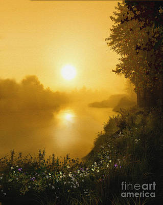 Golden View Art Print by Robert Foster