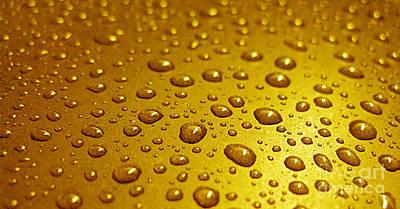 Photograph - Golden Water Drops. Business Card. Invitation Etc. by Ausra Huntington nee Paulauskaite