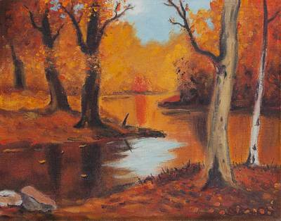 Painting - Golden Woods by Frank Strasser