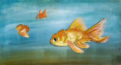 Goldfish Art Print by Anthony Cavins