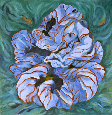 Painting - Goldfish Explore The Cecropia by Shoshanah Dubiner