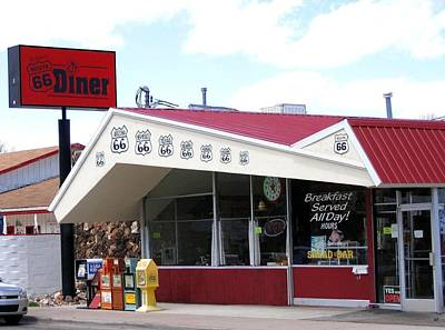 Photograph - Goldie's Route 66 Diner  by Will Borden