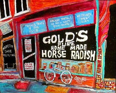 Shoe Repair Painting - Gold's Horseradish by Michael Litvack