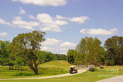 Golf At Calloway Gardens Art Print by J Jaiam