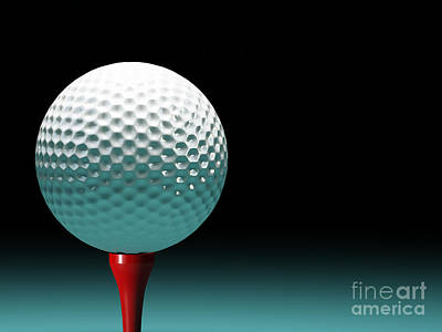 Golf Ball Art Print by Gualtiero Boffi