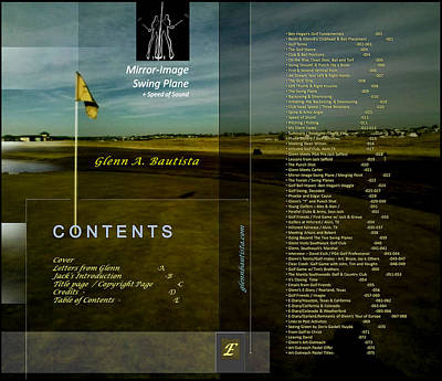 Digital Art - Golf Book Toc By Glenn E by Glenn Bautista