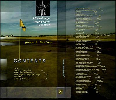 Digital Art - Golf Book Toc By Glenn E by Glenn Bautista