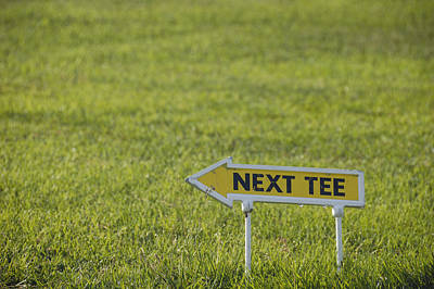 Photograph - Golf Cours With Sign Next Tee by Matthias Hauser