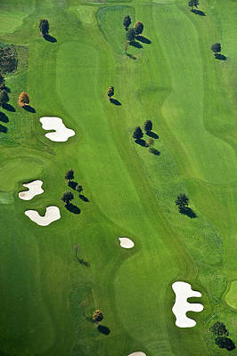 Golf Course Art Print by Daniel Reiter