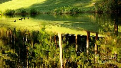 Golf Course Reflections 2 Print by Tanya  Searcy