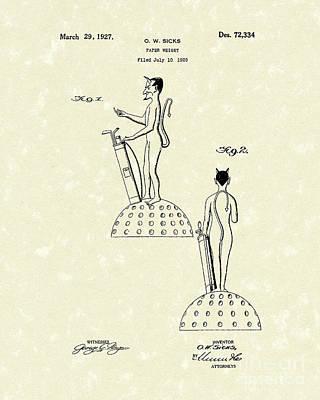 Golf Devil Paperweight 1927 Patent Art Art Print
