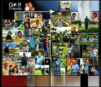 Digital Art - Golf Friends 3 P57 by Glenn Bautista
