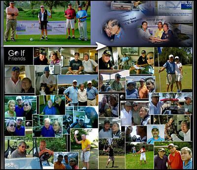 Digital Art - Golf Friends 4 P58 by Glenn Bautista