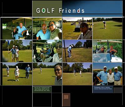 Digital Art - Golf Friends P33 by Glenn Bautista