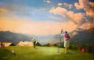 Art Miki Digital Art - Golf In Crans Sur Sierre Switzerland 04 by Miki De Goodaboom