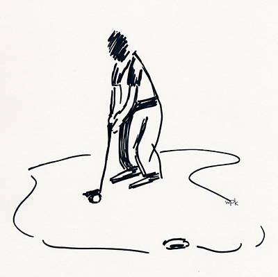 Us Open Drawing - Golf Iv by Winifred Kumpf