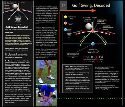 Digital Art - Golf Swing Decoded P27 by Glenn Bautista