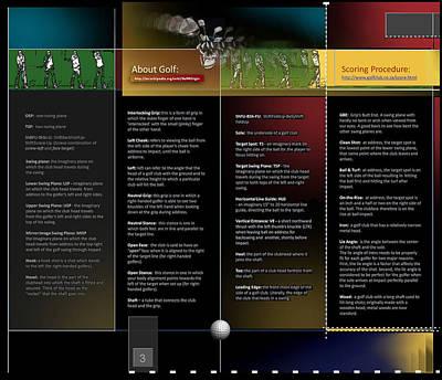 Digital Art - Golf Terms B P3 by Glenn Bautista