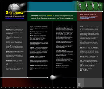 Digital Art - Golf Terms P2 by Glenn Bautista