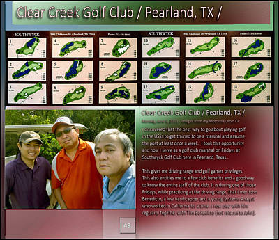Digital Art - Golf With John And Tim P48 by Glenn Bautista