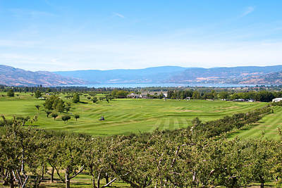 Golfing In The Okanagan Art Print by Ivan SABO
