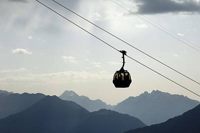 Photograph - Gondola Lift And Mountains by Matthias Hauser