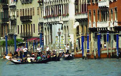 Photograph - Gondolas In Venice by Emanuel Tanjala