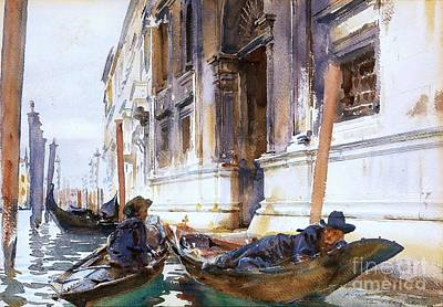Painting - Gondoliers  Siesta by Pg Reproductions