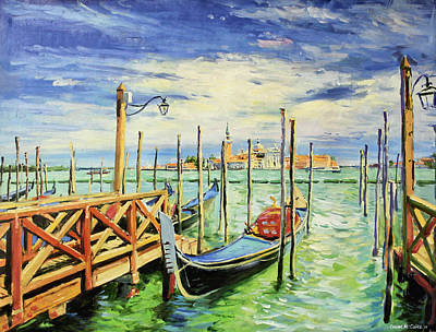 Northeast Painting - Gondolla Venice by Conor McGuire