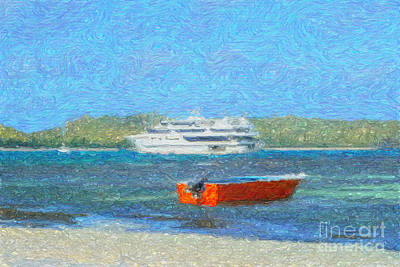 Digital Art - Gone Ashore by Diane Macdonald