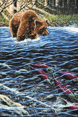 Art Print featuring the painting Gone Fishing by Kurt Jacobson