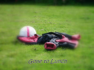 Footie Photograph - Gone To Lunch by Mandy Jayne
