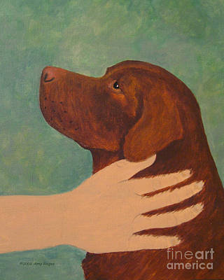Painting - Good Dog - Chocolate Labrador by Amy Reges