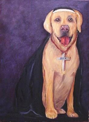 Art Print featuring the painting Good Habit Rex by Carol Berning