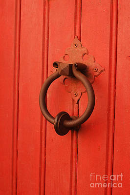 Digital Art - Good Luck Red Door And Knocker by Eva Kaufman